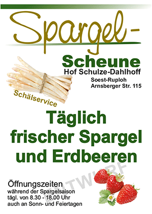 Flyer Spargel A6red